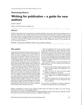 dixon-2001-writing-for-publication-for-new-authors-1